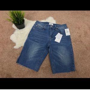Hudson Girl Bermuda Jeans Sz 10 Cut Off